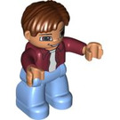 LEGO Duplo Man with Hair Father Duplo Figure