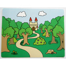 LEGO Duplo Plastic Backdrop, Curvy Road with Trees (42429)