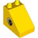 LEGO Duplo Slope 1 x 3 x 2 with Eyes (63871 / 99873)