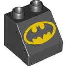 LEGO Duplo Slope 45° 2 x 2 x 1.5 with Batman-Logo Decoration (6474 / 21029)