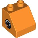 LEGO Duplo Slope 45° 2 x 2 x 1.5 with Decoration (10442 / 10443)