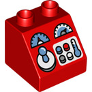 LEGO Duplo Slope 45° 2 x 2 x 1.5 with Decoration (17494 / 49559)