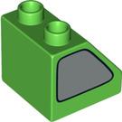 LEGO Duplo Slope 45° 2 x 2 x 1.5 with Decoration (6474 / 13258)