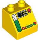 LEGO Duplo Slope 45° 2 x 2 x 1.5 with Decoration (6474 / 63017)
