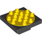 LEGO Duplo Toolo Turntable 4 x 4 with Yellow Top (60535 / 86594)