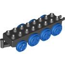 LEGO Duplo Train Base 2 x 8 with Blue Wheels (59131 / 64671)