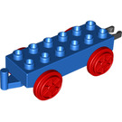 LEGO Duplo Train Carriage with Red Wheels and Moveable Hook (64668 / 73357)