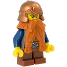 LEGO Dwarf with Orange Beard and Copper Helmet Minifigure