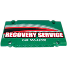 LEGO Flat Panel 5 x 11 with RECOVERY SERVICE (left)  Sticker