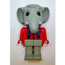 LEGO Edward Elephant with Blue Suspenders Fabuland Figure
