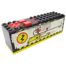 LEGO Electric 9V Battery Box 4 x 14 x 4 Bottom  Assembly with Power Puller Pattern Sticker (2847)