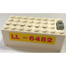 "LEGO Electric 9V Battery Box 4 x 8 x 2.333 Cover with ""LL-6482"" (4760)"