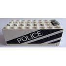 "LEGO Electric 9V Battery Box 4 x 8 x 2.333 Cover with ""POLICE"" (4760)"