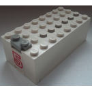LEGO Electric 9V Battery Box 4 x 8 x 2.333 Cover with Sticker from Set 6440 (4760)