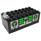 LEGO Electric 9V Battery Box 4 x 8 x 2.333 Cover with Sticker from Set 6991 (4760)