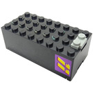 LEGO Electric 9V Battery Box 4 x 8 x 2.333 Cover with Yellow '11' on Purple Background Sticker (4760)