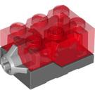 LEGO Electric Light Brick 2 x 3 x 1.3 Red (38564 / 54869 / 98782)