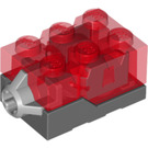 LEGO Electric Light Brick 2 x 3 x 1.3 Red (54869 / 98782)