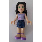 LEGO Emma Dark Blue Miniskirt Purple Top with Flowers Minifigure