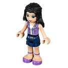 LEGO Emma, Dark Blue Skirt, Purple Top Minifigure