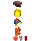 LEGO Emmet - Lopsided Closed Mouth Smile and Plate on Leg Minifigure