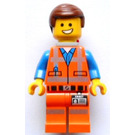 LEGO Emmet with Backpack Minifigure without Plate on Leg