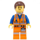 LEGO Emmet with Lopsided Smile and No Plate on Leg Minifigure