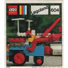 LEGO Excavator Set 604-2 Instructions