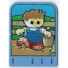 LEGO Explore Story Builder Card Farmyard Fun with boy with water bucket pattern