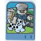 LEGO Explore Story Builder Card Farmyard Fun with farmworker with dog pattern