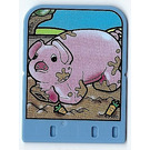 LEGO Explore Story Builder Card Farmyard Fun with pig pattern