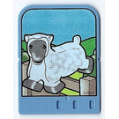 LEGO Explore Story Builder Card Farmyard Fun with sheep jumping over fence pattern