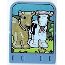 LEGO Explore Story Builder Card Farmyard Funn with 2 cows pattern