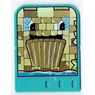 LEGO Explore Story Builder Crazy Castle Story Card with Castle Bridge pattern
