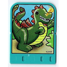 LEGO Explore Story Builder Crazy Castle Story Card with green Dragon pattern