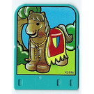 LEGO Explore Story Builder Crazy Castle Story Card with Horse with horsebarding pattern