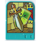 LEGO Explore Story Builder Crazy Castle Story Card with Sword and Shield pattern
