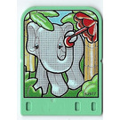 LEGO Explore Story Builder Jungle Jam Story Card with elephant pattern (42181 / 43977)