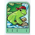 LEGO Explore Story Builder Jungle Jam Story Card with frog pattern (42183 / 43980)