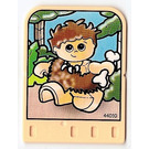 LEGO Explore Story Builder Meet the Dinosaur story card with caveman boy with bone pattern