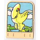 LEGO Explore Story Builder Meet the Dinosaur story card with flying dinosaur pattern