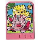 LEGO Explore Story Builder Pink Palace Card with girl in pink dress pattern (42178 / 44002)