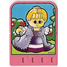 LEGO Explore Story Builder Pink Palace Card with lady pattern (42176 / 44000)