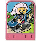 LEGO Explore Story Builder Pink Palace Card with man in blue dress pattern (42179 / 44003)