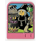 LEGO Explore Story Builder Pink Palace Card with witch pattern (42182 / 44006)