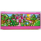 LEGO Explore Story Builder Pink Palace memory card with pink castle scene