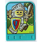 LEGO Explore Story Builer Crazy Castle Story Card with Knight with sword and shield pattern