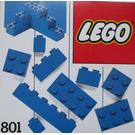 LEGO Extra Bricks Blue Set 801-2