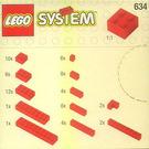 LEGO Extra Bricks in Red Set 634