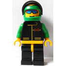 LEGO Extreme Team Racer with Green Helmet with Flames Pattern Minifigure